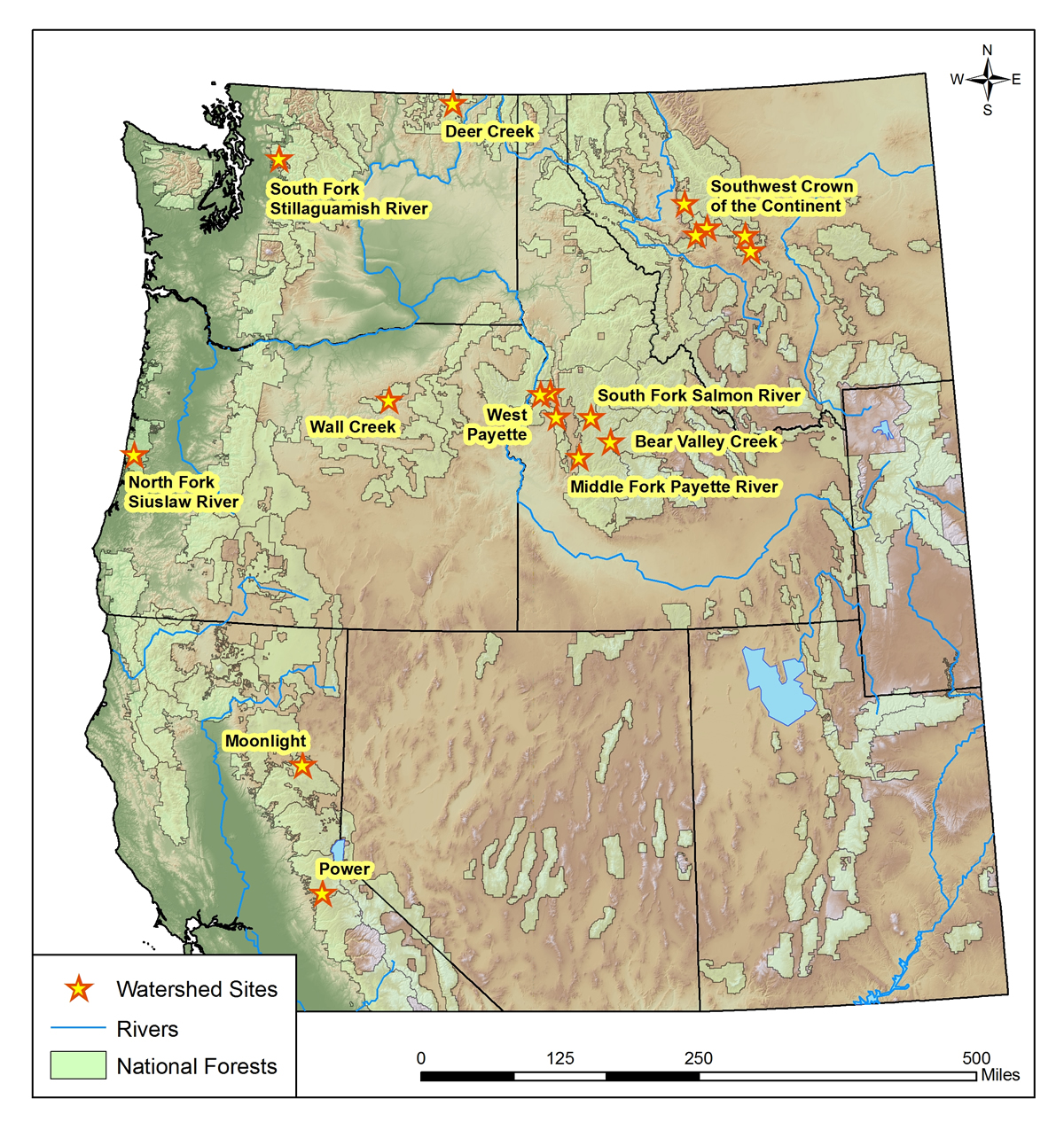 GRAIP Watershed Studies Air Water  Aquatic Environments AWAE - Map of us national forest