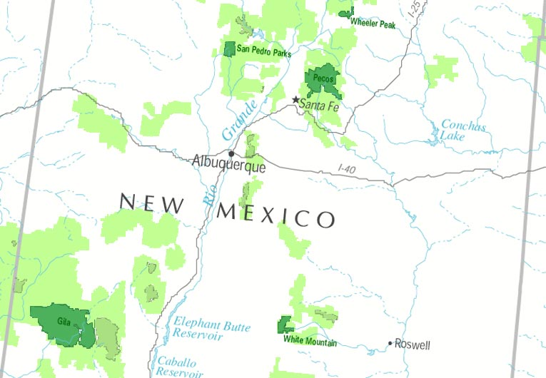 New Mexico Class I Map Forest Service Air Resource Management Program
