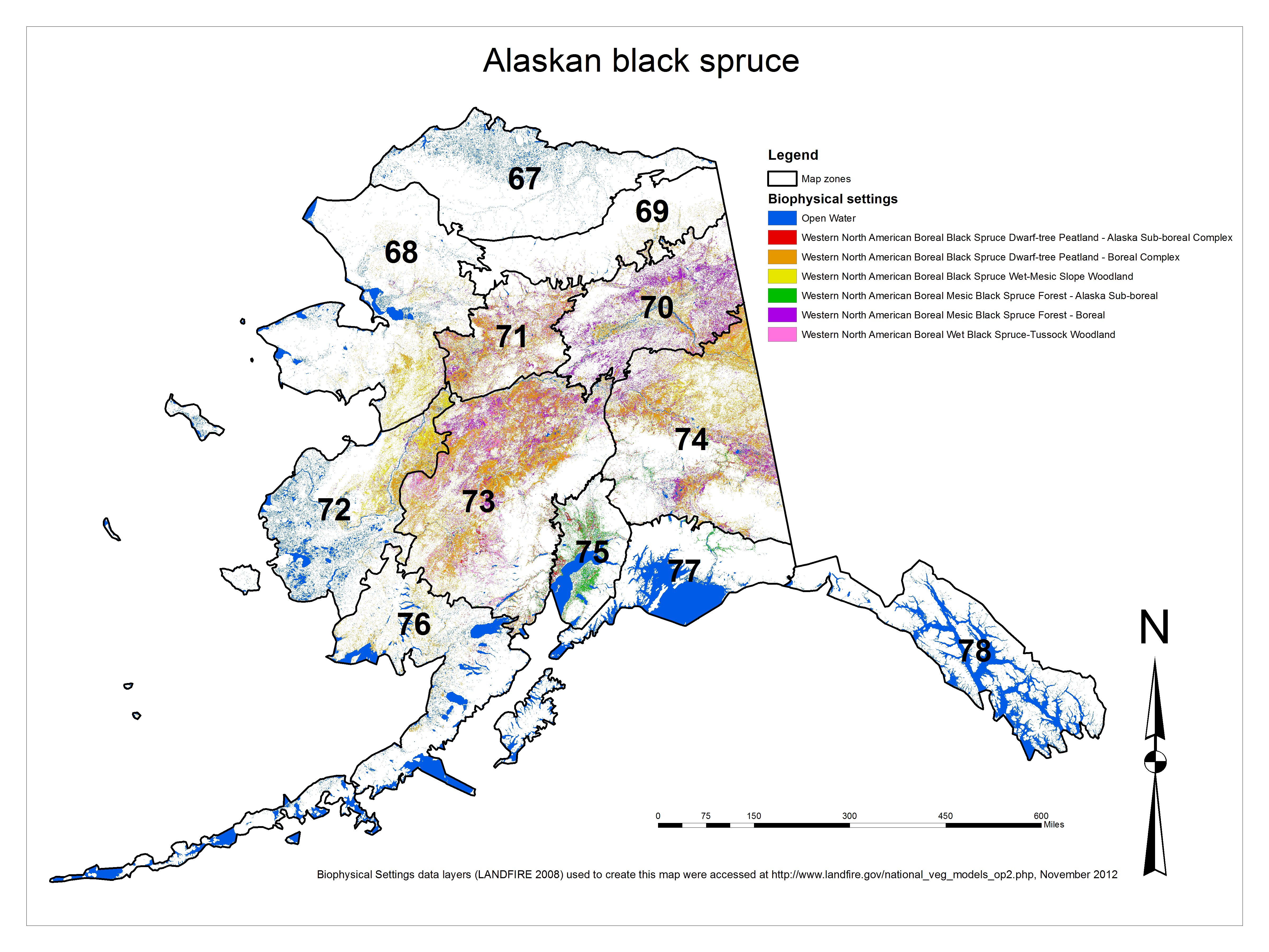 Alaskan Black Spruce Process Flow Diagram National Cranberry Cooperative Figure 1 Land Cover Distribution Of Communities Based On The Landfire Biophysical Settings Bps Data Layer 75