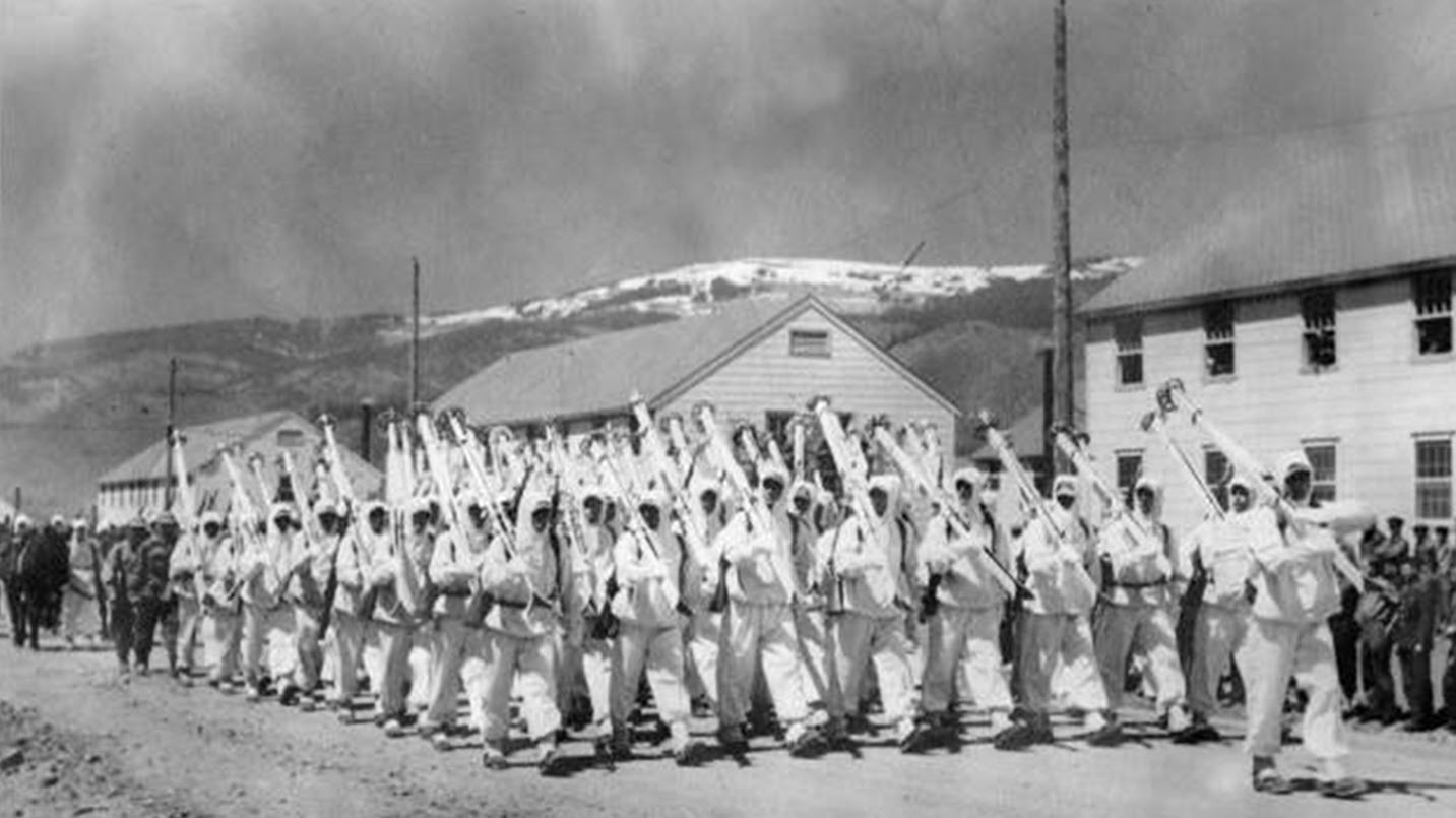 Soldiers Marching during World War II
