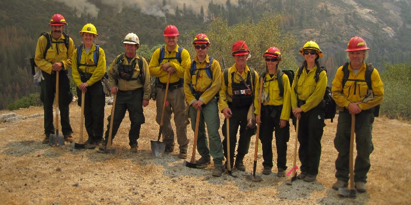 Enterprise Group that served as FBAT (Fire Behavior Assessment Team) on the Rough Fire, CA, 2015.