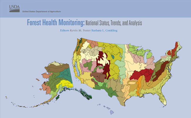 Publication cover of Forest Health Monitoring: National Status, Trends, and Analysis 2015