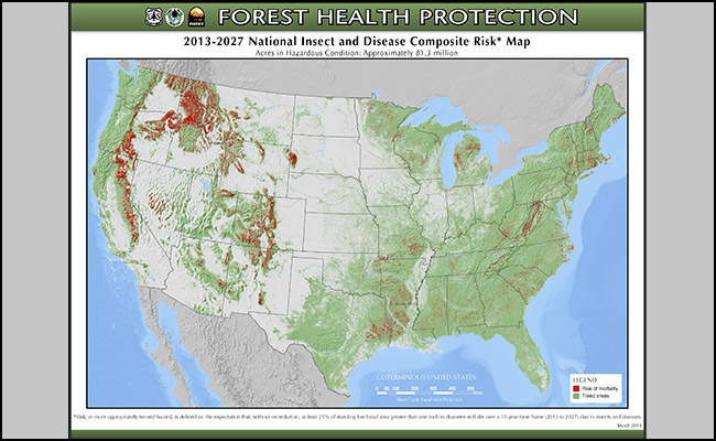 2013-2027 National Insect and Disease Composite Risk Map