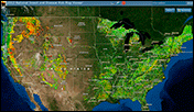 National Insect and Disease Risk Map screen capture