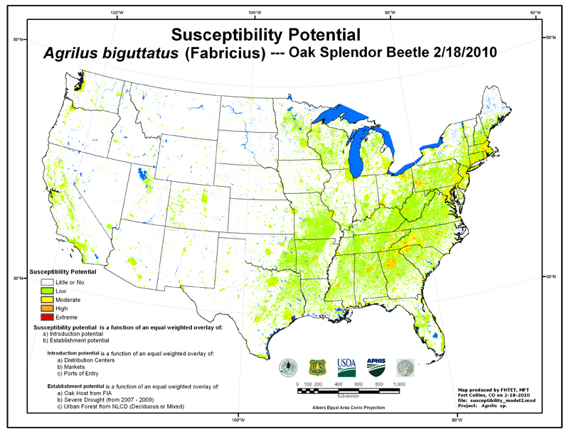 What Are The Risks Formerly NM Urban Homesteader - Map of asian longhorned beetle us