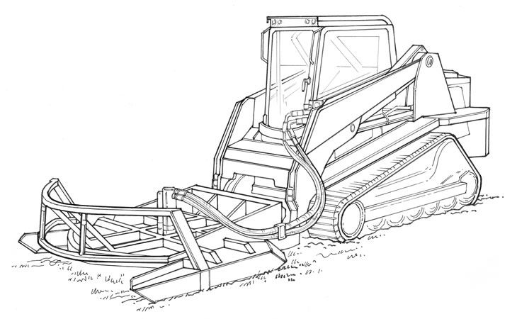Compact tracked loader.