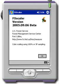 A rotation of pictures showing views of the FSscaler program's interface.