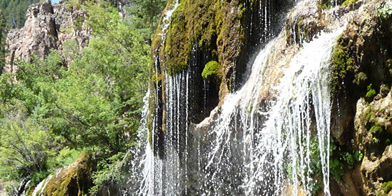 Waterfall near Hanging Lake on the White River National Forest.