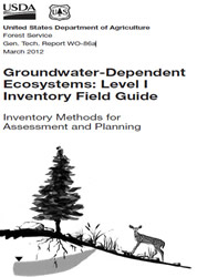 Thumbnail image of the Groundwater-Dependent Ecosystems: Level I Inventory Field Guide