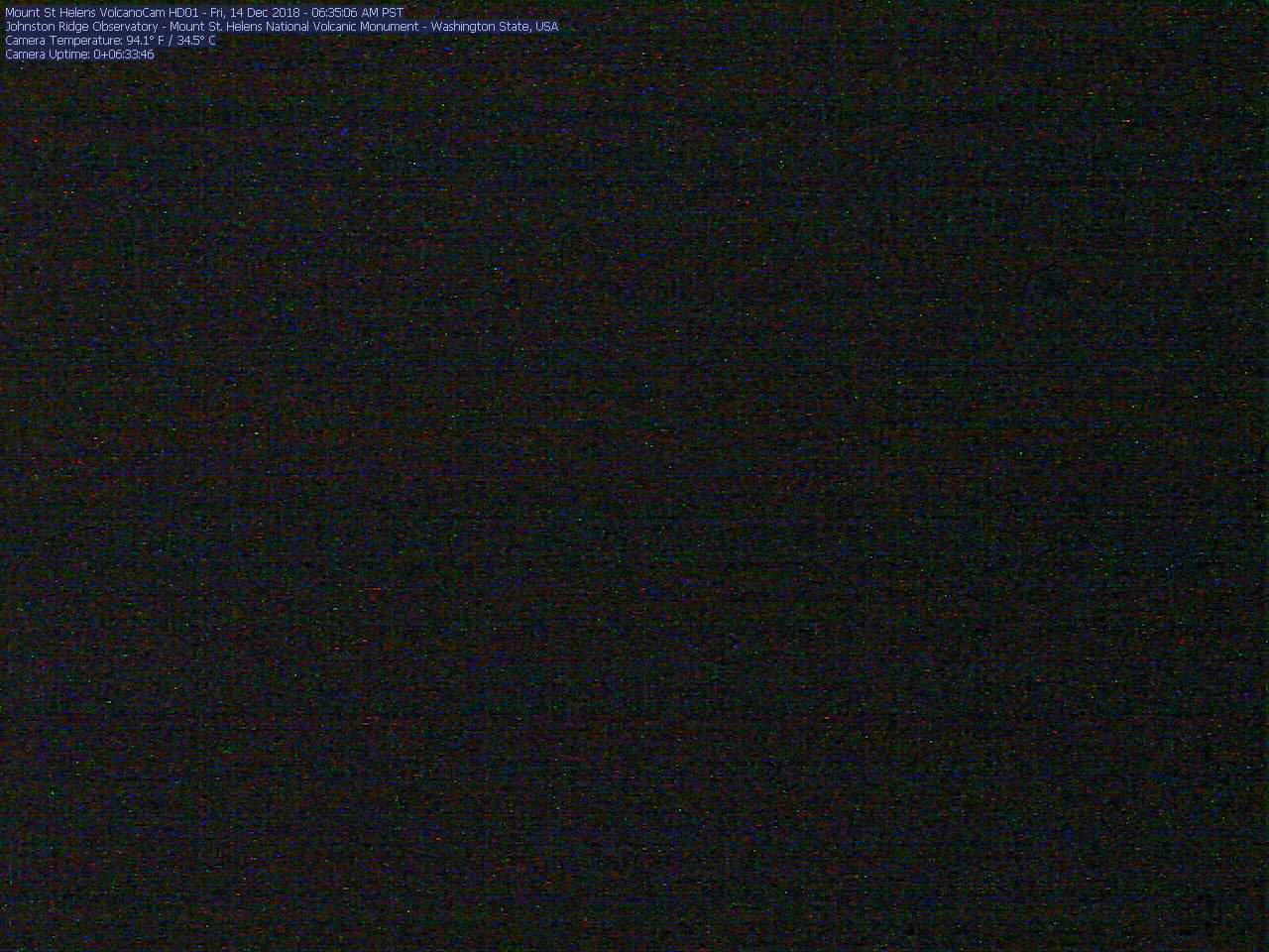 Click for a larger web cam image of the Mount St. Helens Washington Volcanoes web cam