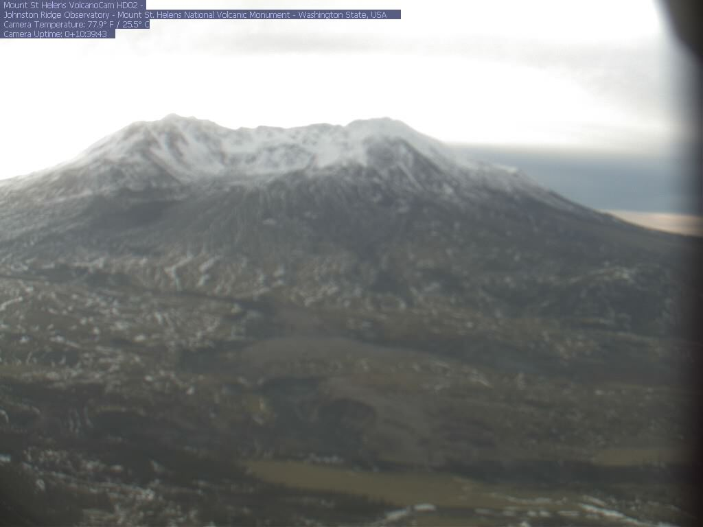 A near real-time view of Mount St Helens