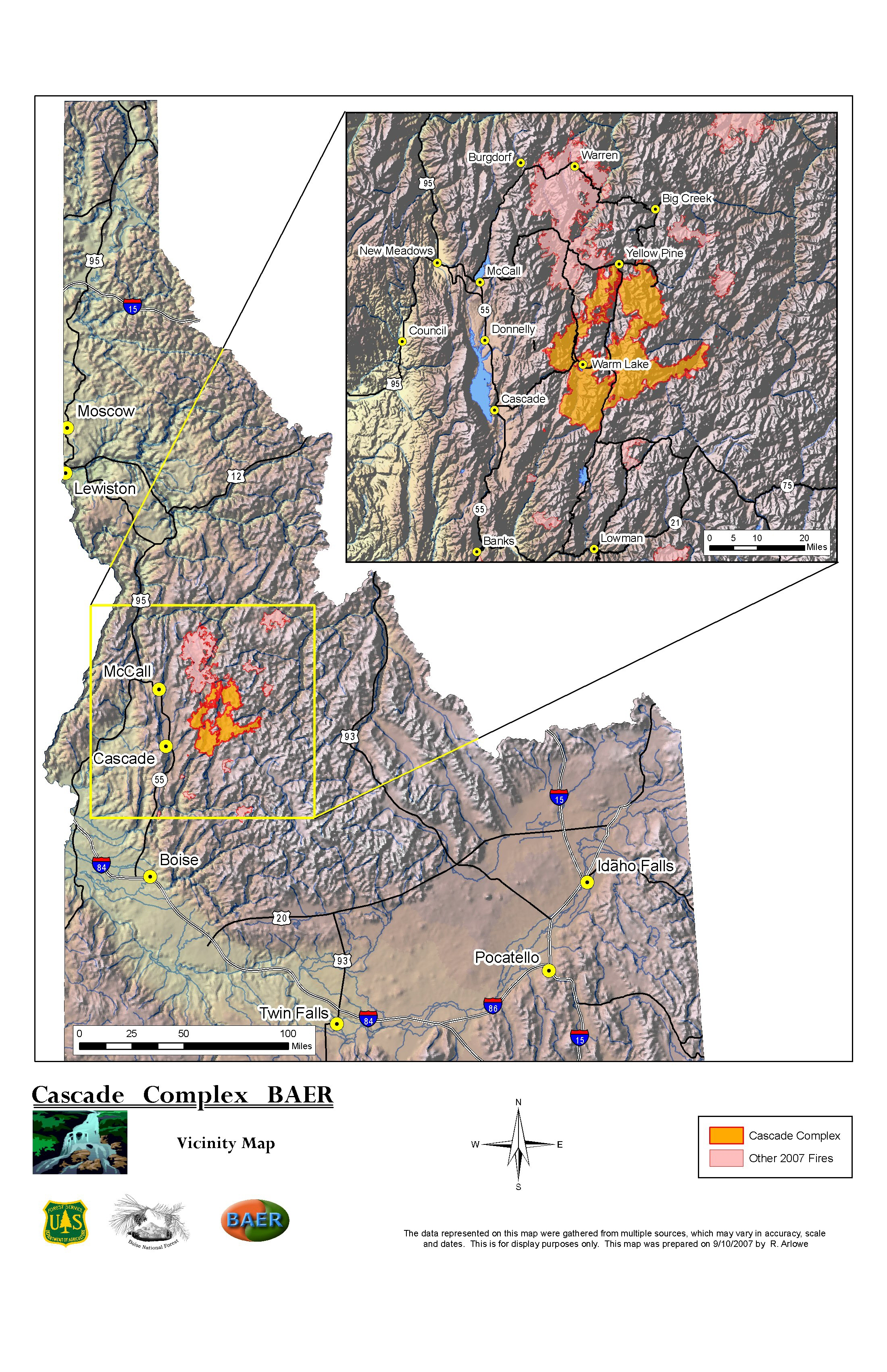 2007 South Central Idaho Fires Information