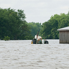 A photo of Mississippi River flooding in 2011
