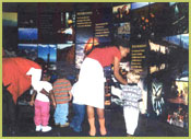 The Photo Wall in the Information Center is a collection of photos that display the beauty of the National Forests and Grasslands.