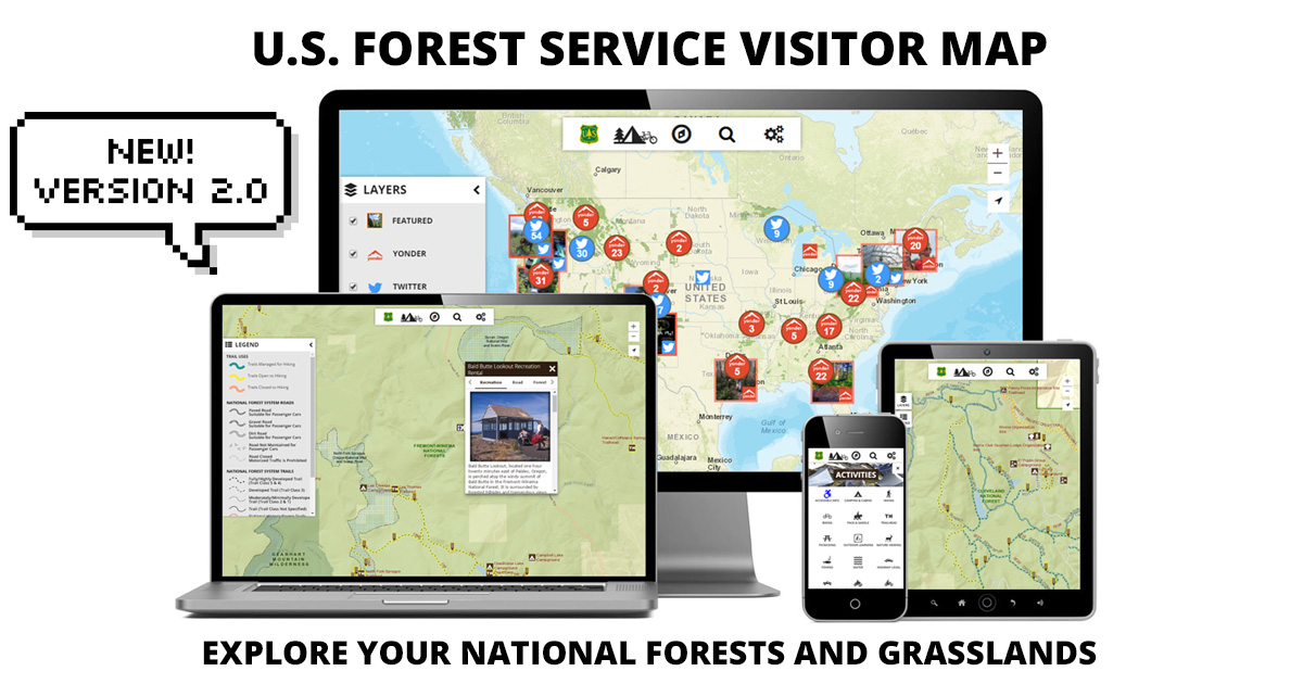 Interactive Visitor Map on hiawatha national forest map, klamath national forest map, dixie national forest map, cleveland national forest map, green mountain national forest map, lewis and clark national forest map, washington state national forest map, cda national forest map, deerlodge national forest map, west virginia national forest map, winema national forest map, mississippi national forest map, toiyabe national forest map, gifford pinchot national forest map, coeur d'alene national forest map, white mountain national forest map, mt national forest map, flathead national forest map, ottawa national forest map, finger lakes national forest map,