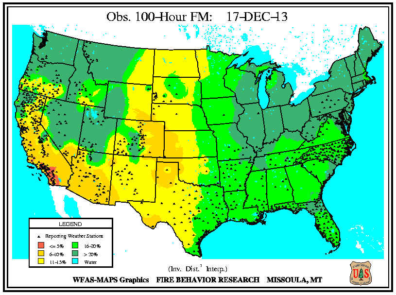 Fire Weather Info Omaha NE - Map of fire risk us