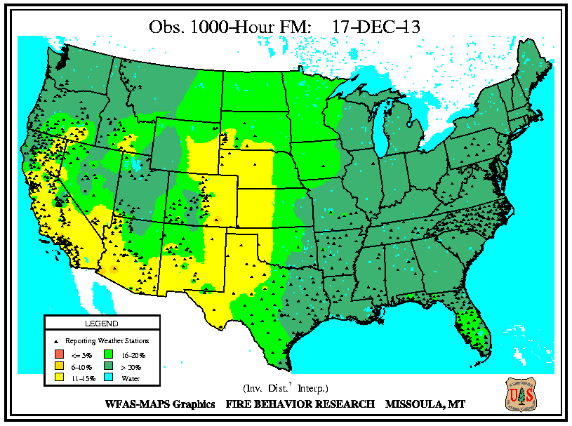 Drought 1000-Hour Fuels