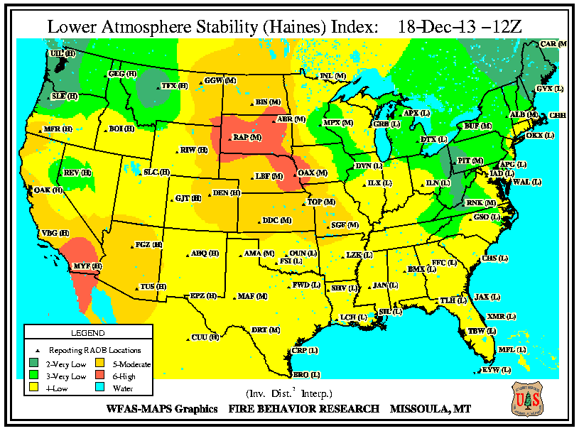 Fire Weather - Us active fire map