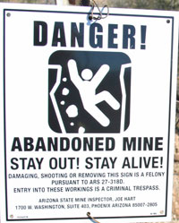 Abandon Mines - Safety and Crime Prevention - LEI | USDA
