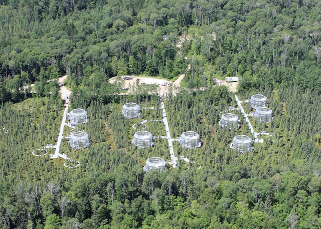 Overhead of the SPRUCE Experiment at the Marcell Experimental Forest in northern Minnesota