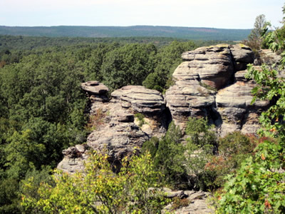 Camel Rock at the Garden of the Gods recreation area on the Shawnee National Forest.  Photo by Leslie Brandt, US Forest Service.
