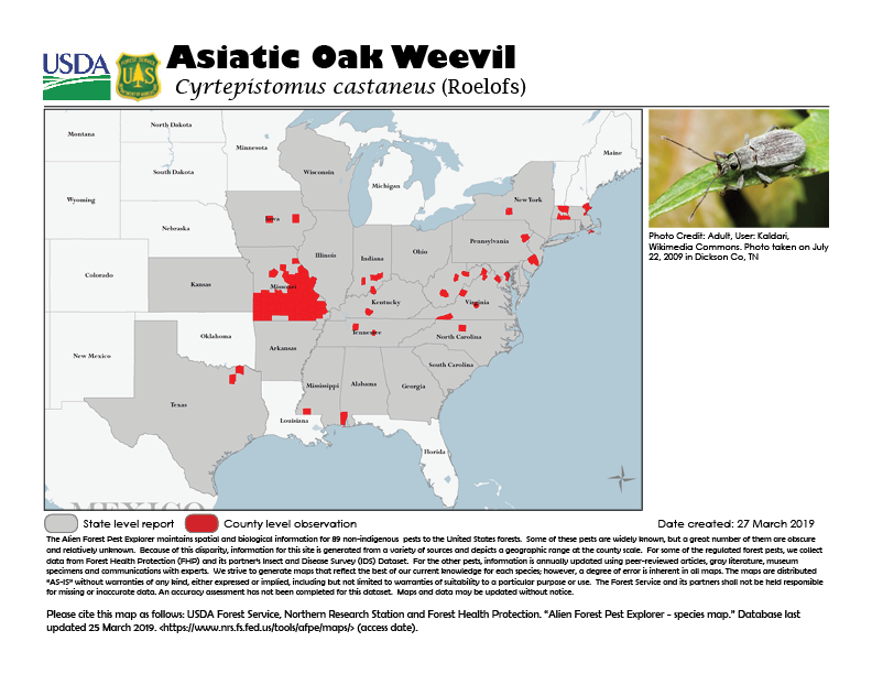Alien Forest Pest Range Maps Northern Research Station USDA - Us forest service ecoregion map