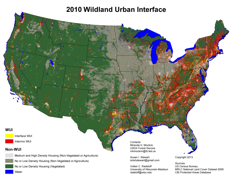 Open Space Conservation - Us wildland fire potential map
