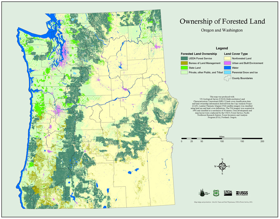 Ownership Of Forested Land In Washington And Oregon