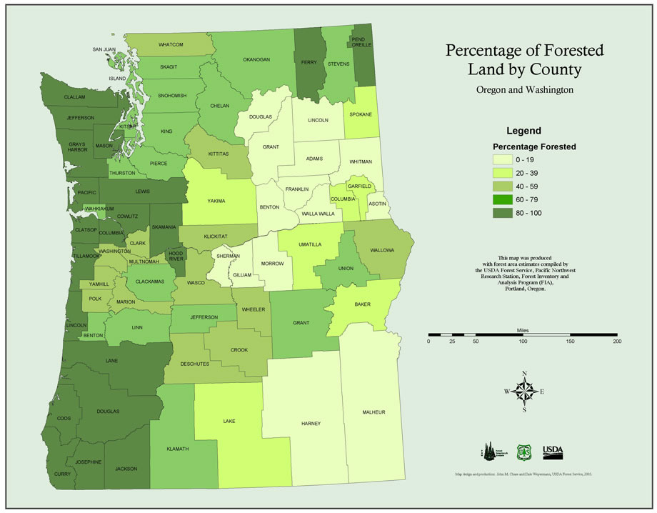 Maps PNW Research Station USDA Forest Service - Map of oregon and washington
