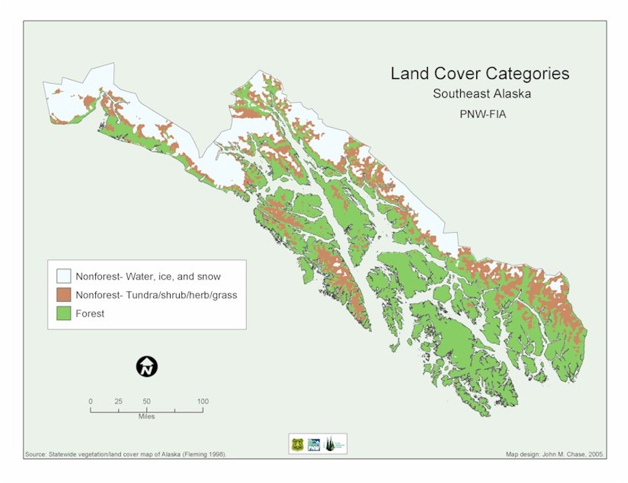 Southeast Alaska Land Cover Categories