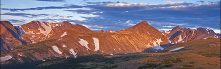 Photo: Sunrise on Indian Peaks from Niwot Ridge, CO