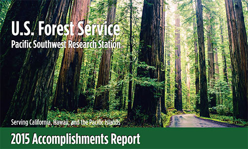 Cover image of the 2015 Accomplishments Report.
