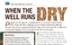 Thumbnail image of a publication titled 'When the well runs dry'.