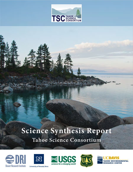 Cover photo of the Tahoe Science Consortium Science Synthesis Report.