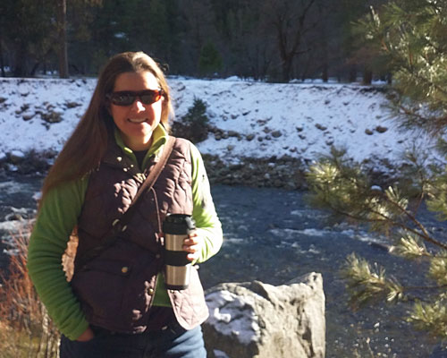 A photo of Jessica Wright in Yosemite National Park.