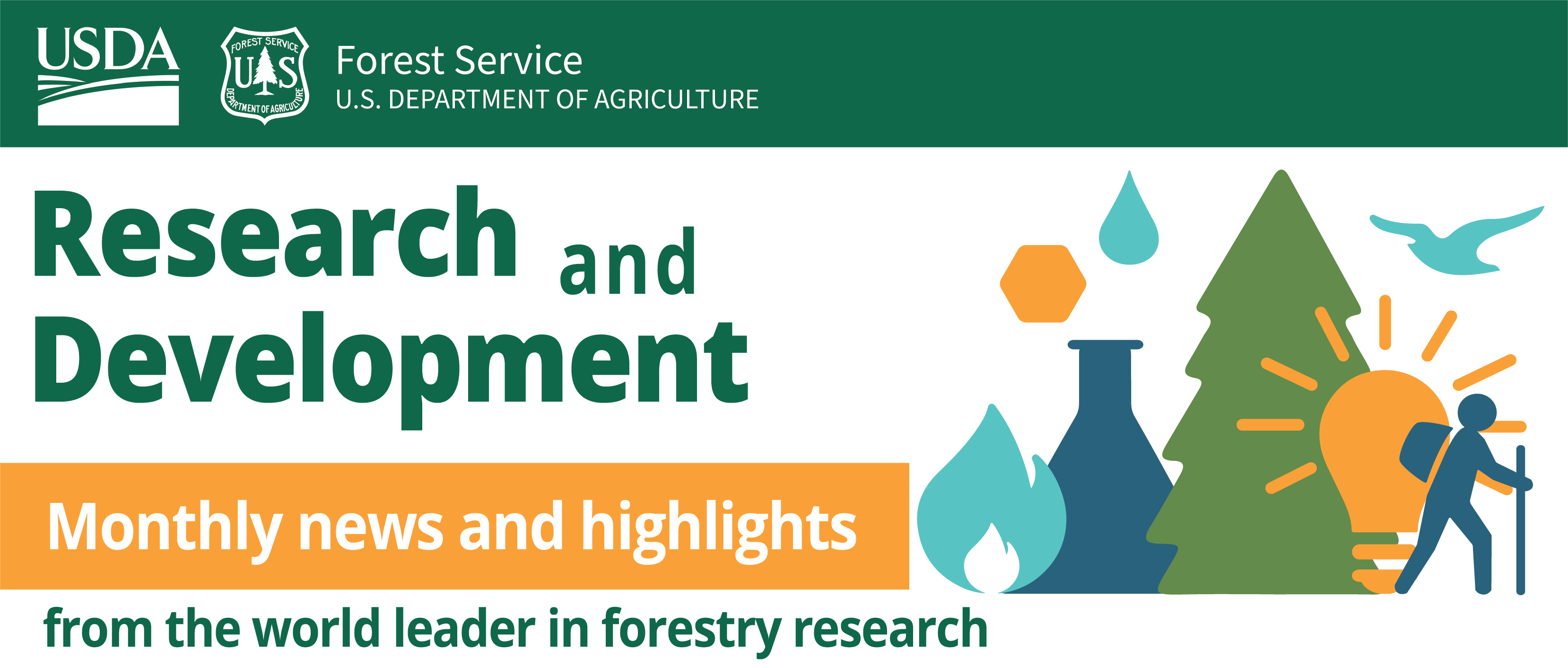 U.S. Forest Service Research and Development Monthly News and Highlights