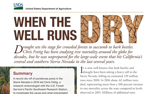 Image of a publication titled, 'When the well runs dry.'