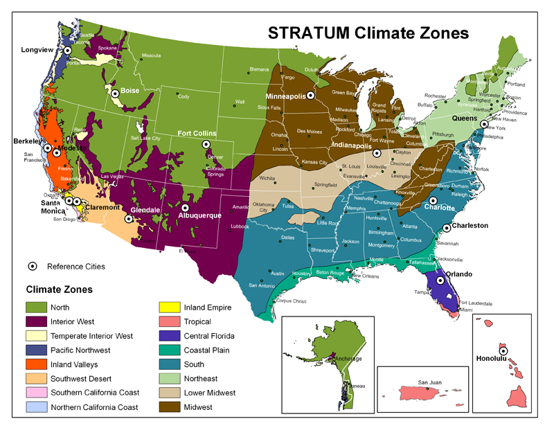 Arid Climate VS Humid Climate VS Mediterranean Climate Place - Us climate map