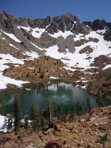 Picture of Echo Lake, Trinity Alps Wilderness
