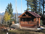 Applegate Cabin and link to reservation page