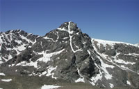 Photo of the Mount of the Holy Cross in the Holy Cross Wilderness, White River National Forest.