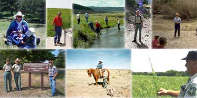 Pictures of people who work with Rangelands.
