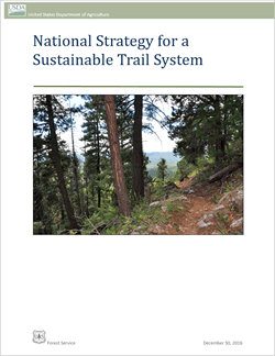 National Strategy for a Sustainable Trail System cover.