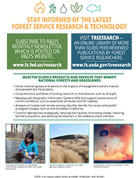 Fact Sheet: The Key Role of Science in Sustaining National Forests and Grasslands