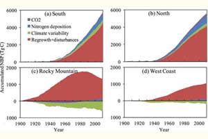 Hover to pause, click to view — Effects of Disturbance, Climate, and Management on U.S. Forest Carbon