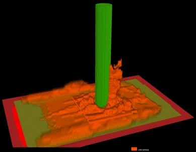 Hover to pause, click to view — More Realistic Model of Tree Trunk Heating and Injury in Wildland Fires Now Available
