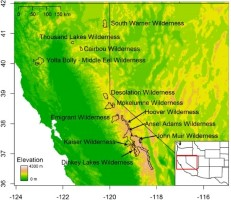 Hover to pause, click to view — Vulnerability of High Elevation Lakes of the Sierra Nevada to Atmospheric Acidic Deposition