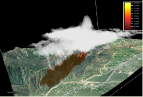Hover to pause, click to view — Research Explains Deadly and Unexpected Fire Behavior of the 2006 Esperanza Fire in Southern California