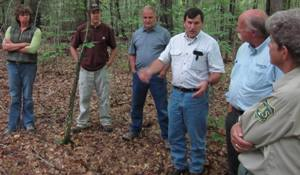 Forest Service staff discuss cultural heritage research and protection with Menominee staff