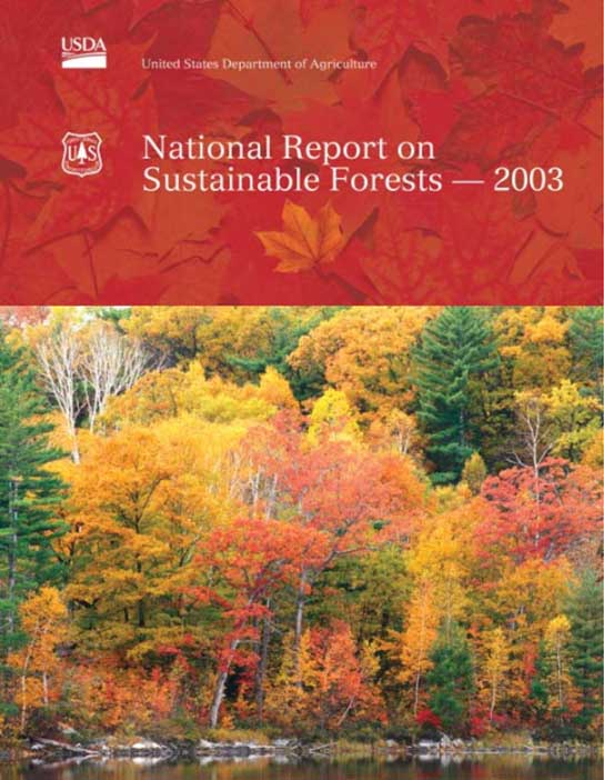 National Report on Sustainable Forests – 2003